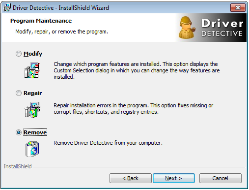 Software Uninstall Dialog